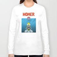 homer Long Sleeve T-shirts featuring HOMER by BC Arts