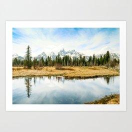 Grand Teton Reflection Fine Art Print Art Print