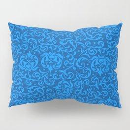 Blue Tudor Damask Pillow Sham