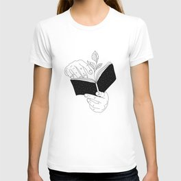 when you read inside the germinate flowers T-shirt