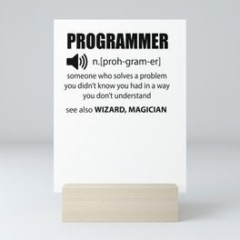 Code programmers Dictionary developers Gift Mini Art Print