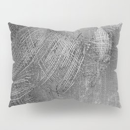 textured jute fabric for background and texture Pillow Sham