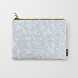 Pale Pastel Blue Monstera Leaves Carry-All Pouch