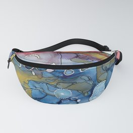 Reef of Rose and Prussian Fanny Pack