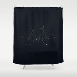 Bike Constellation Shower Curtain