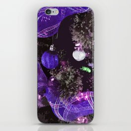 Purple Christmas Tree iPhone Skin