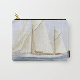 Vintage Racing Ketch Sailboat Illustration (1913) Carry-All Pouch