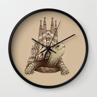 architecture Wall Clocks featuring Slow Architecture by Enkel Dika