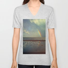 Rainbow Over Sea Unisex V-Neck