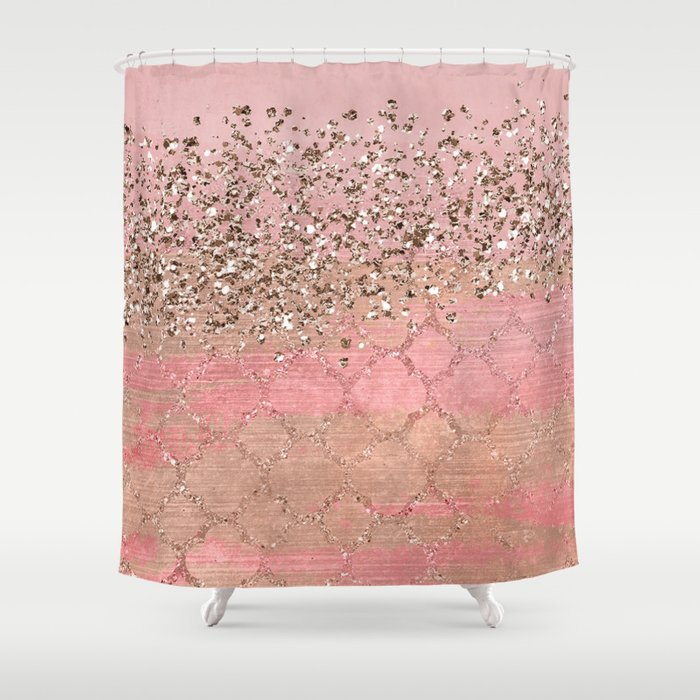 Pink Moroccan Princess Shower Curtain