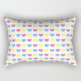 '80s hearts (larger) - Back to Basics Rectangular Pillow