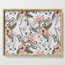 Tropical pattern pastel Serving Tray