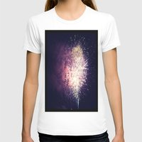 fireworks T-shirts featuring Fireworks by Jiesha  Stephens