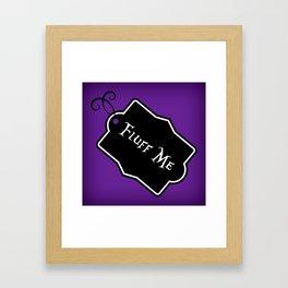 """""""Fluff Me"""" Alice in Wonderland styled Bottle Tag Design in 'Shy Violets' Framed Art Print"""
