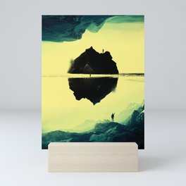 Triple Isolation in Green Mini Art Print