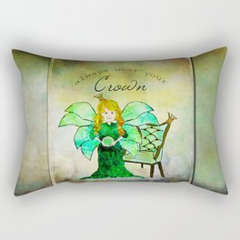 Princess ~ Always Wear Your Crown ~ Ginkelmier Land  Rectangular Pillow