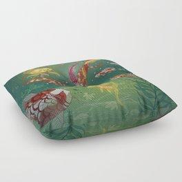 Ukiyo-e tale: The magic pen Floor Pillow