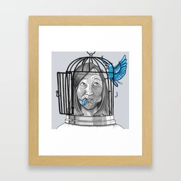 Goodbye Blue Sky Framed Art Print