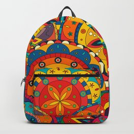 Funky Retro Pattern Mandalas Backpack