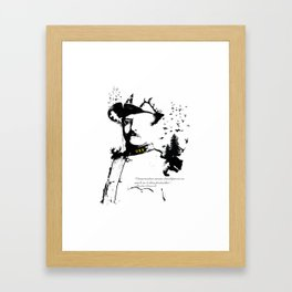 A man of the wild Framed Art Print