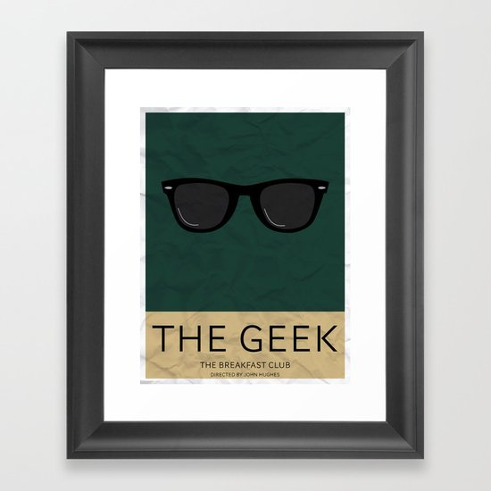 """The Geek"" The Breakfast Club   Framed Art Print"
