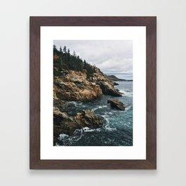 Coastal Acadia Framed Art Print