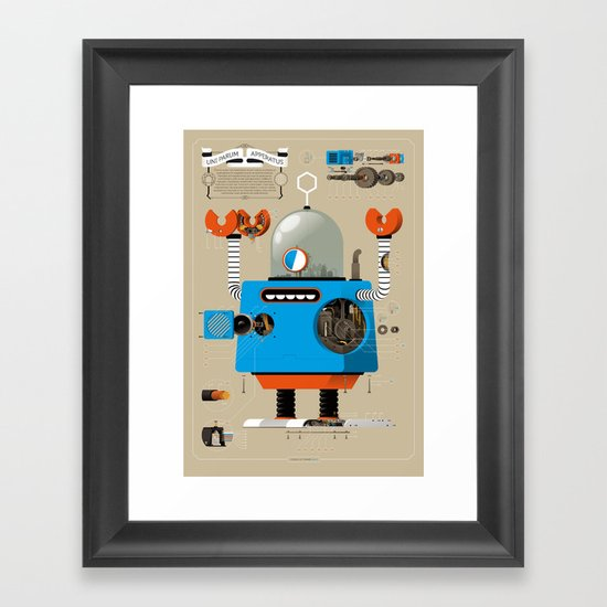 Anatomy Bot Framed Art Print