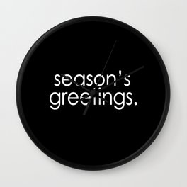 Season's Greetings Wall Clock