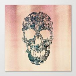 Skull Vintage Canvas Print