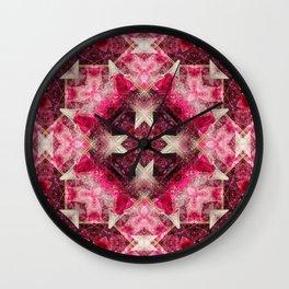 Crystal Matrix Mandala Wall Clock