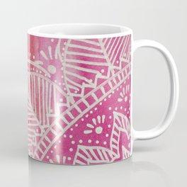 Mandala flower on watercolor background - pink Coffee Mug
