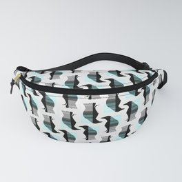 Glitching Crow Pattern Fanny Pack