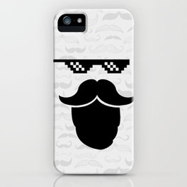 Thug Mustache iPhone Case