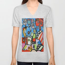 FUNKY CITY 2-BY DEREK ERSKINE Unisex V-Neck