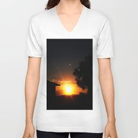 ufo V-neck T-shirts featuring UFO by Shemaine