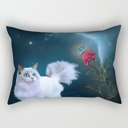 The Rose and the Cat Rectangular Pillow