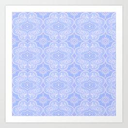 Snowflake Elephant Pattern Art Print