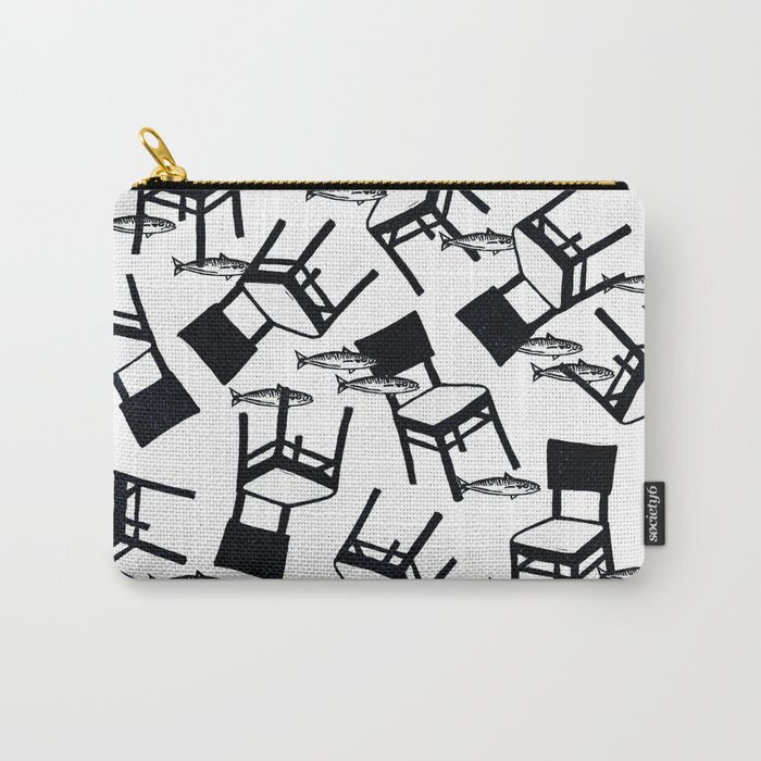 chairs and fishes Carry-All Pouch