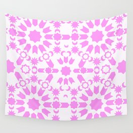 Pink Arabesque Wall Tapestry