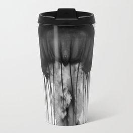 Jellyfish Black and White Travel Mug
