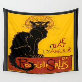 Le Chat D'Amour Greeting Card  Wall Tapestry