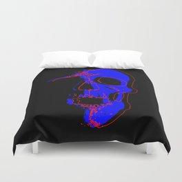 Skull - Blue Duvet Cover