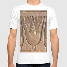 Dendera Carving 9 MEDIUM Mens Fitted Tee White