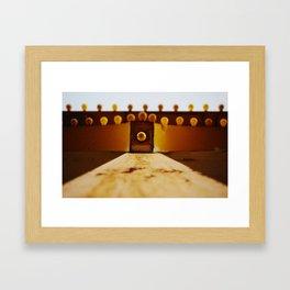 Yellow Bulbs Framed Art Print