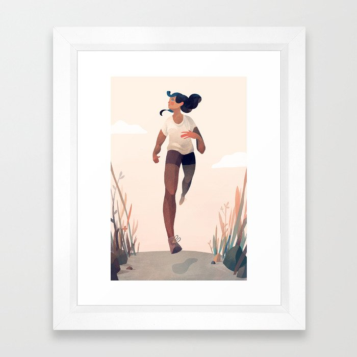 Runner Girl Framed Art Print