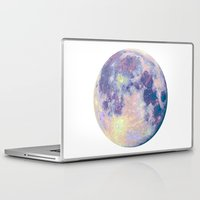 sun and moon Laptop & iPad Skins featuring Moon by Marta Olga Klara