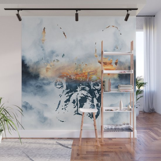 French bulldog and landscape abstract design by inovarts