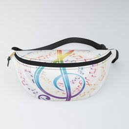 Harmony Music Clef Fanny Pack