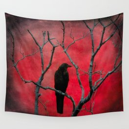 The Color Red Wall Tapestry