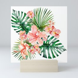Tropical Jungle Hibiscus Flowers - Floral Mini Art Print